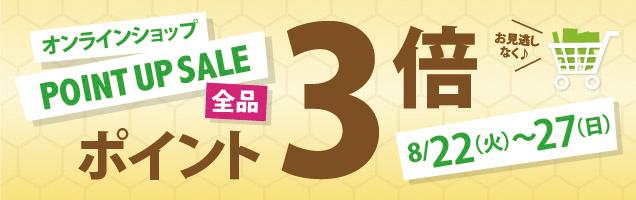 オンラインショップPOINTUPSALE全品ポイント3倍お見逃しなく♪8/22(火)~27(日)